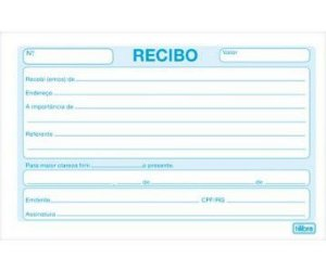BLOCO RECIBO COMUM S/CANHOTO 50FLS C/01