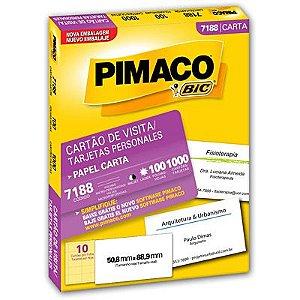 CARTAO DE VISITA PIMACO C/1000 REF.7188