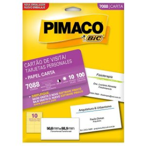 CARTAO DE VISITA PIMACO C/10FLS REF.7088
