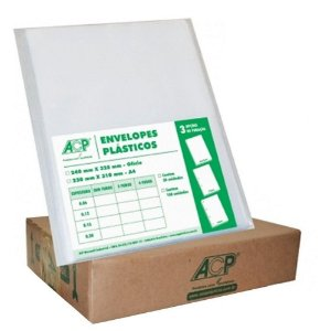 ENVELOPE PLAST 2FUROS OF C/500 0.12 ACP