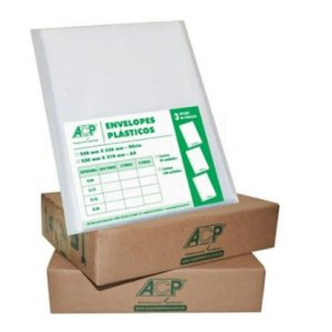 ENVELOPE PLAST 4FUROS A4 C/500 0,12 ACP