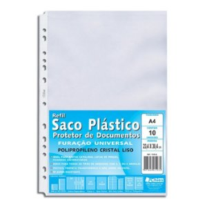ENVELOPE PLASTICO 13 FUROS A4 C/100