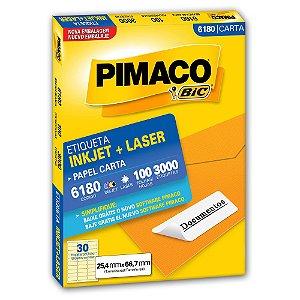 ETIQUETA 6180 25X66 C/3000 PIMACO