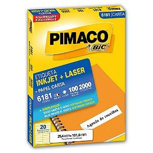 ETIQUETA 6181 25X101 C/2000 PIMACO