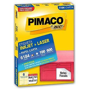 ETIQUETA 6184 84X101 C/600 PIMACO