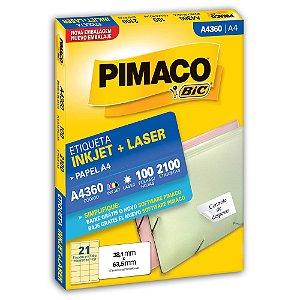 ETIQUETA A4360 38X63 C/2100 PIMACO