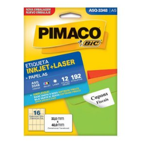 ETIQUETA A5Q-3348 33X48 C/192 PIMACO
