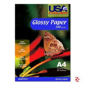 PAPEL PHOTO A4 180GR GLOSSY C/50 USA
