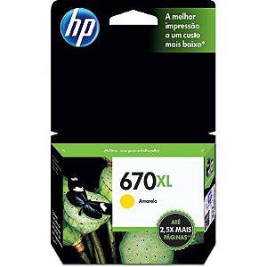 CARTUCHO HP 670XL CZ120AB C/7,5ML AMARELO