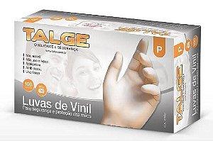 LUVA DESCARTAVEL VINIL C/TALCO P C/100