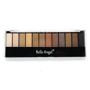 Paleta de sombras fosca A2 c/ 12 cores Belle Angel