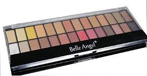 Paleta de sombras fosca A2 c/ 28 cores Belle Angel