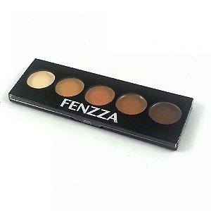 Paleta corretiva em creme c/ 5 tons Fenzza