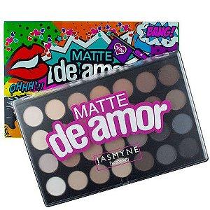 Paleta de sombras Matte de Amor efeito Matte c/ 28 cores Jasmyne