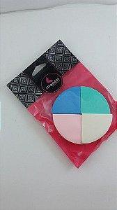 Esponja de espuma p/ maquiagem triangular c/4 partes Manfel