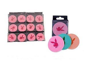 Kit esponjas p/ maquiagem c/ 3 peças Playboy