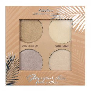 Iluminador Paleta Highlight Pallete Glow Your Skin Dark Ruby Rose