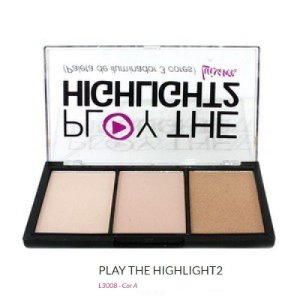 Paleta de Iluminador 3 Cores Play The Highlight2 Luisance