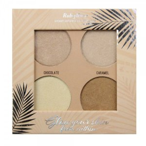 Iluminador Paleta Highlight Pallete Glow Your Skin Light Ruby Rose