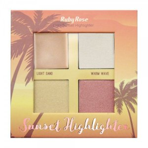 Iluminador Paleta Sunset Highlighter Light Ruby Rose
