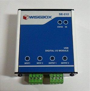 Módulo USB - 2 Entradas/2 Saídas Digitais estado sólido