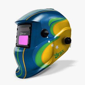 Máscara de Solda com Automática com Regulagem - Tema Brasil