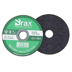 Disco De Corte Aço/inox 4.1/2 Brax - 50 Peças