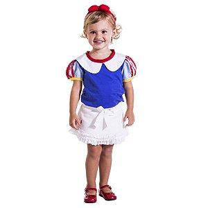 Camiseta Infantil Princesa Branca de Neve
