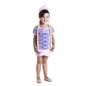 Camiseta Infantil Princesa de Trança