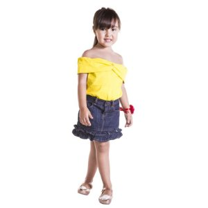 Camiseta Infantil Princesa Bela