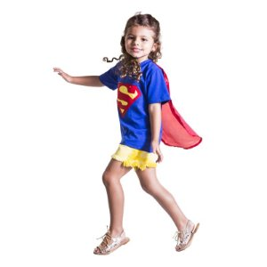 Camiseta Infantil Super Heroi Azul