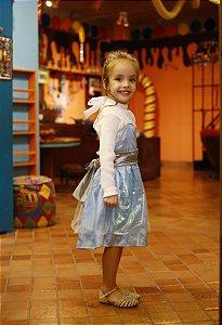 Vestido Infantil Avental Cinderela