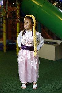 Vestido Infantil Avental Rapunzel