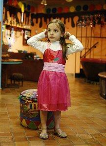 Vestido Infantil Avental Aurora