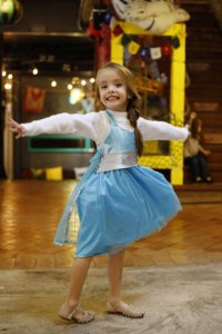 Vestido Infantil Avental Elsa