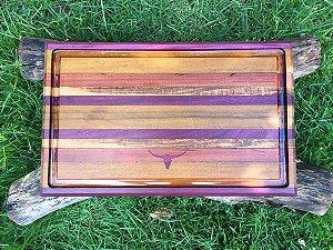 Tábua de carne multicolor de madeira
