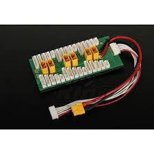Placa Xt60 Paralela Carrega 6 Baterias Lipo PCB004