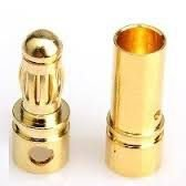 "Conector Gold ""Banana"" 3,5mm PAR"