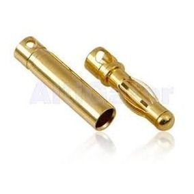 "Conector Gold ""Banana"" 4mm PAR"