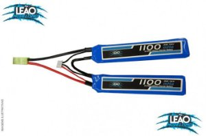 Bateria Lipo 7.4V 2S - 1100mAh - 20C - AirSoft