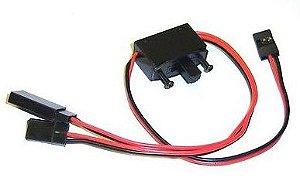 Chave liga/desliga c/ 3 Plug para Carregamento