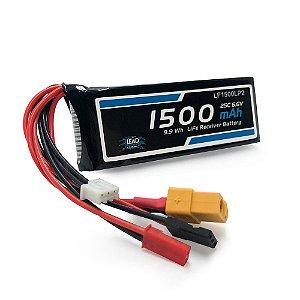 Bateria de Life 1500mah 6.6v 25C - Futaba/JST/XT60