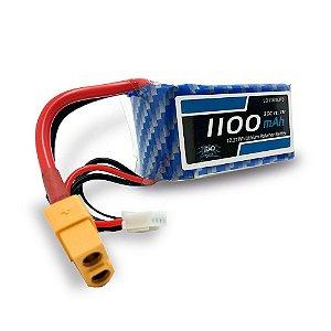 Bateria Lipo - 11.1V - 3S - 1100mAh - 30C/60C - XT60