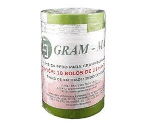 Fita Plástica Gram - Max Para Alceador/ Grampeador Cor Verde - 1 Rolo com 30 metros