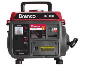 Gerador De Energia Branco B2T-950 A Gasolina 110V Partida Manual