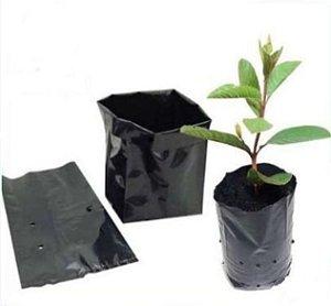 100 Saco para plantio mudas  22x30x0,18