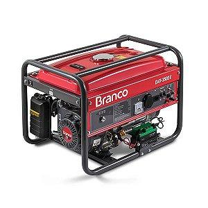 Gerador de Energia à Gasolina B4T-3500 E 7,0CV 3,5KW Mono 110/220V AVR com Partida Elétrica - BRANCO