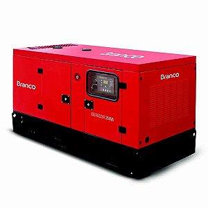 Gerador De Energia Branco BD-21000 ES A Diesel 4T 23Kva 2543cc 220V