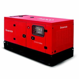 Gerador de energia BRANCO  Cabinado BD-26000 E3 S Trifásico 23 KW
