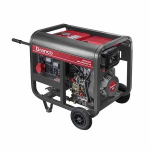 Gerador de Energia a Diesel Monofasico 55Kva 110220V BD-6500 E BRANCO